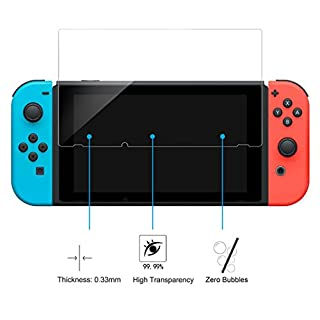 Screen Protector Switch 2017, Hard Film for Nintendo Switch, Asnlove 9H Hardness Anti-Scratch Glass for Nintendo Switch Glass Film Real Glass Screen Protector