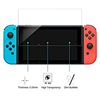 Screen Protector for Nintendo Switch, Rosa Schleife Nintendo Switch 9H Hardness 0.3mm HD Clear Bubble Free Anti Scratch Shatterproof Protective Film Tempered Glass Screen Protector for Nintendo Switch