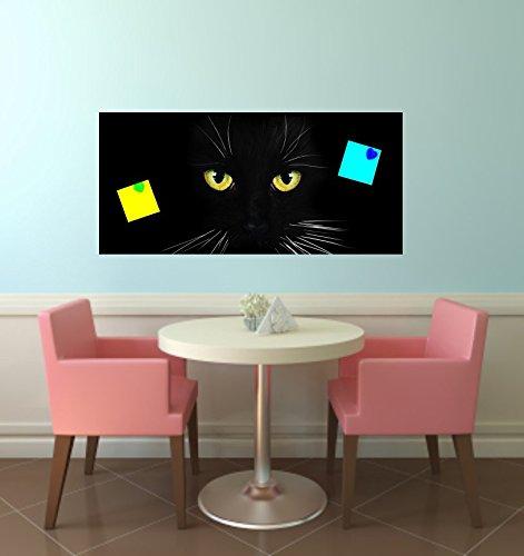 Magnettafel Aufkleber Katze schwarz passend für IKEA Spontan