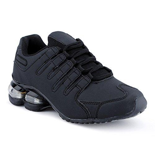 Fusskleidung Herren Damen Sportschuhe Dämpfung Neon Laufschuhe Gym Sneaker Unisex Schwarz EU 37 (High-top Nike-turnschuhe Für Männer)