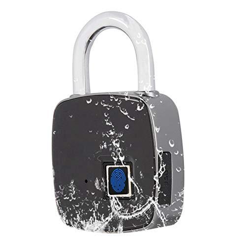 Eboxer Reconocimiento de Huellas Dactilares Inteligente sin Llave Impermeable Seguridad Antirrobo Candado...