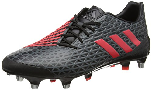 adidas Predator Malice Sg, Chaussures de Rugby Homme, UK Noir (Negbas/rojimp/grivis)