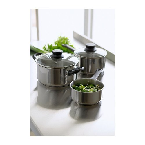 IKEA 5-PIECE COOKWARE SET, STAINLESS STELL