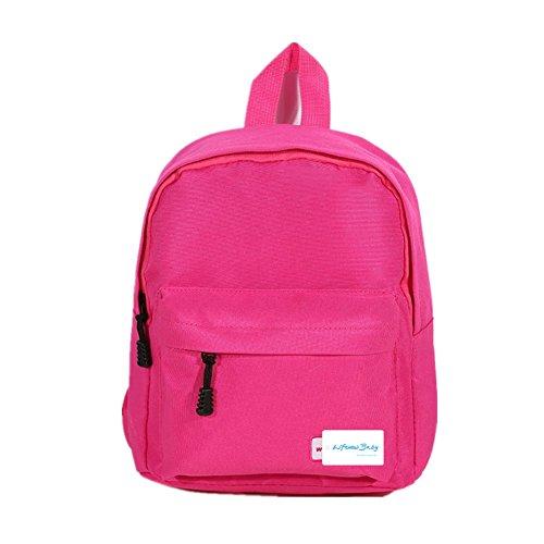 Baby tela zaino bambini zaini scuola borsa zaino bambini Toddler zainetto con colore puro Hot Pink