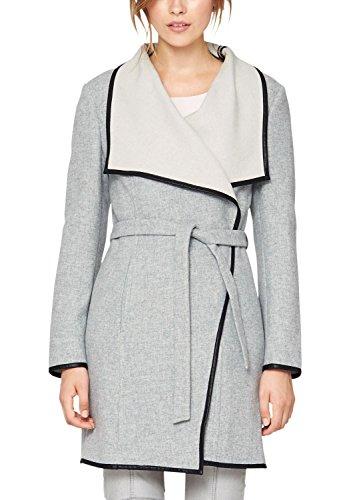 s.Oliver Premium - Double Face, Cappotto da donna, grigio (forever grey melange 9400), 46