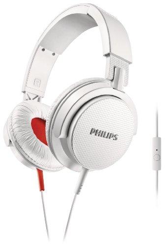 Philips SHL3105WT/10 - Cuffie da DJ, con funzione vivavoce universale, colore: Bianco