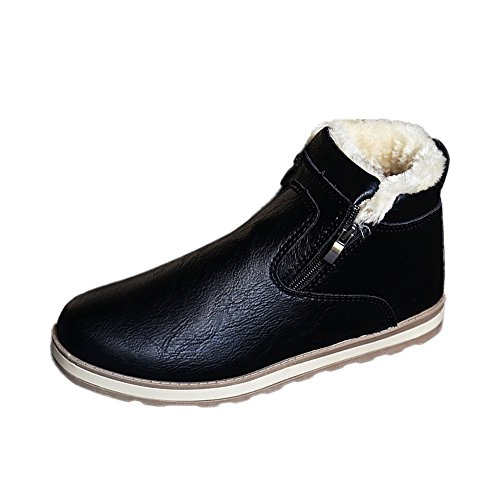 Bottes de Neige Homme, Manadlian Waterproof Bottes avec Doublure Chaudes Chaussures Classiques Courts Sneakers 39-44