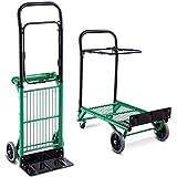 COSTWAY Carretilla de Mano Plegable con Ruedas Carro de Plataforma Transporte Saco Capacidad de Carga Hasta 90 kg