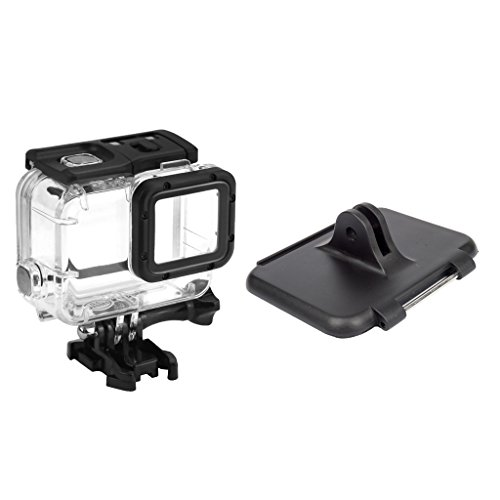 Segolike Waterproof Housing Case + Replacment Fixed Backdoor Case Connector for GoPro Hero5 Camera