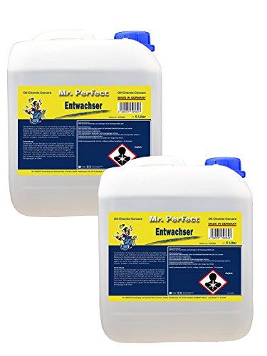 Mr. Perfect® Entwachser, 2 x 5 Liter - Entfetter für Lacke & Maschinen, Schonende Behandlung von Lacken, Kunststoffen, Glas und Gummi