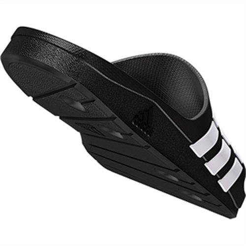 adidas Duramo Slide, Men's Open Toe Sandals, Black (Black/White/Black), 8 UK (42 EU)