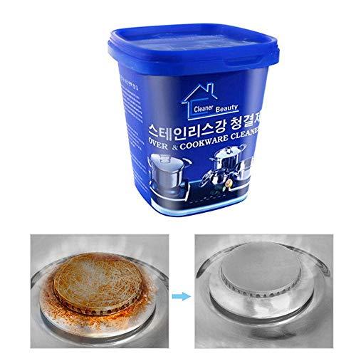 Hamkaw Multi Purpose Cleaner, Küchen-Edelstahl-Polierpaste - Kupfer/Messing-Metallreiniger Und Poliermittel-Creme-Fleckentferner Ohne Zu Verkratzen