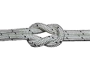 Schot-Tauwerk-Allroundleine 12mm Kennung schwarz 50m Schot,Seil,Tau,Tauwerk,Festmacher,Ankerleine