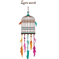 tirdds Beautiful Feather Bird Cage Wall Sticker DIY Removable Vinyl Wall Decals For Kids Room Door Windows Sticker Home Bedroom Decor Poster for Home Decoration(None 50 * 70cm)