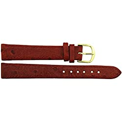 Watch Strap in Red PU - 14mm - - buckle in Gold stainless steel - B14RedItr68G
