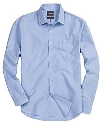 Blackmogoo Mens Big And Tall Casual Slim Fit Button Down