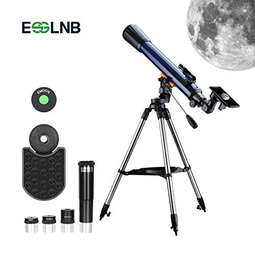 ESSLNB Astronomisches Teleskop Kinder Einsteiger 70/700 Fernrohr Teleskop mit Smartphone Adapter...
