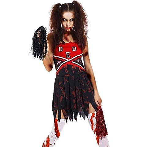 Zombie Halloween Costumes Filles - M L Deguisement Pom-pom girl Femmes Costume