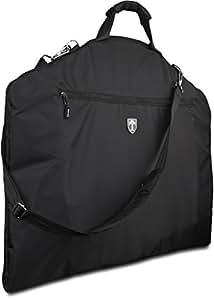 "TRAVANDO ® Suit Carrier with 15"" Laptop Compartment, Shoulder Strap   Dress bag for Business Travel   Cover for Garments   Clothes Storage for Airline Luggage   Suit Bag, Cabin Suitbag Holder for Men"