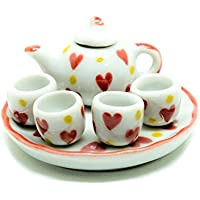 Dollhouse miniature Food,Tiny Food Collectibles ( Heart Coffee Tea Cup