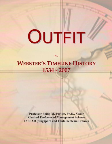 Outfit: Webster's Timeline History, 1534 - 2007