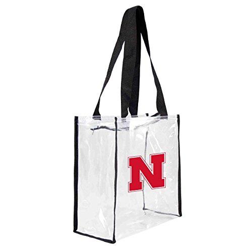 ncaa-nebraska-cornhuskers-square-stadium-tote-115-x-55-x-115-inch-clear-by-littlearth