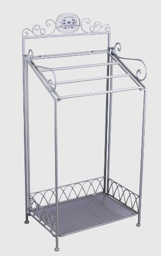 VINTAGE BADREGAL WEISS HANDTUCHREGAL HANDTUCHHALTER SHABBY CHIC (Weiss Metall Handtuchhalter)