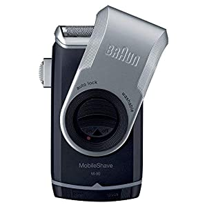 Braun PocketGo M90 MobileShave Portable Shaver, Travel Shaver