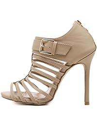 Tacones De Aguja De Las Mujeres Zapatos De Gladiador Open Toe Daily Black Albaricoque Casual Party