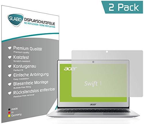 Slabo 2 x Bildschirmschutzfolie für Acer Swift 1 Bildschirmschutz Schutzfolie Folie No Reflexion Keine Reflektion MATT - Entspiegelnd Made IN Germany