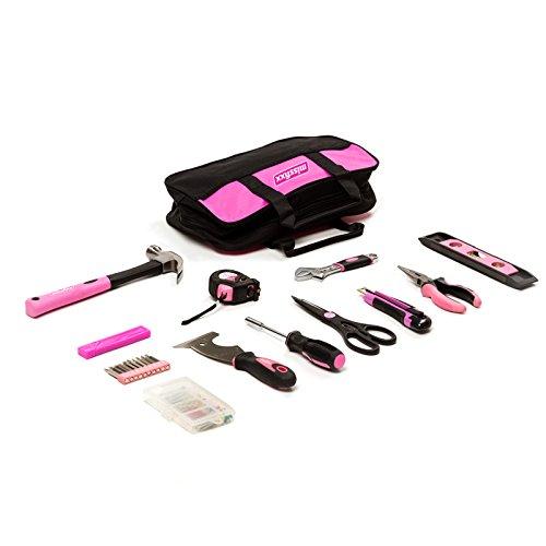 missfixx Werkzeug Starterset in Pink für Frauen inkl. Hammer, Maßband, Cutter und mehr