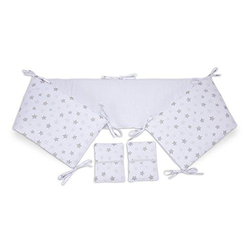 FabiMax 3655 Nestchen für Beistellbett Pro, 90x40 cm, Sterne klein, weiß