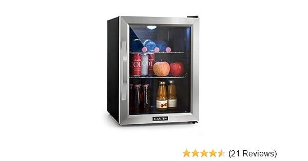 Kühlschrank Minibar Getränkekühlschrank Silber A Edelstahl Glastür 80l : Klarstein beersafe m kühlschrank mit glastür u mini kühlschrank
