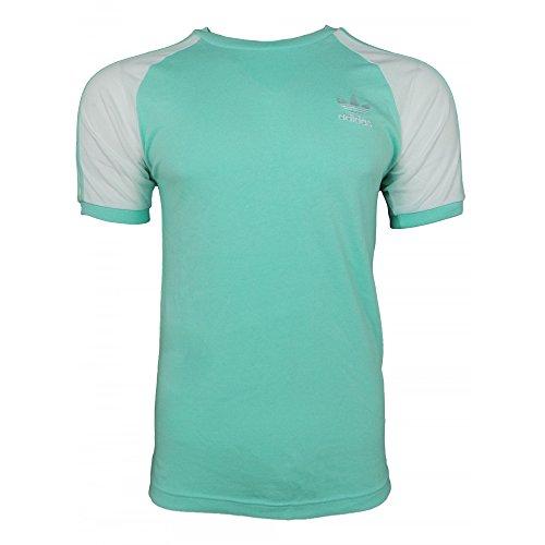 adidas 3-Stripes tee Camiseta, Hombre, Azul (Mencla), L