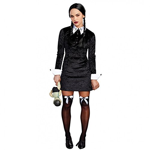 hen Wednesday, Gr. S, Kleid schwarz Fasching Addams Family (Wednesday Addams Kleid)