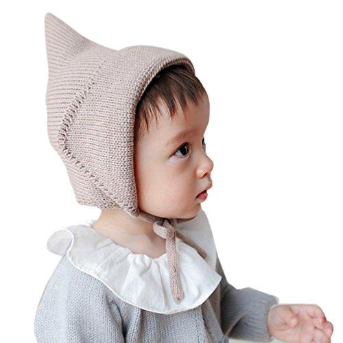 Babybekleidung Hüte & Mützen Longra Baby Mädchen Jungen Gestrickte häkeln Solid Beanie Strickmütze Herbst Winter Warm Strickmütze Baby Strick Hut Strickmütze(44-50cm, 0-2 years) (COFFEE)