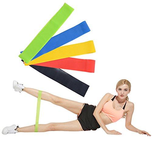 Owikar bande di resistenza loop esercizio 5pz/set in lattice naturale stretching fasce per gambe caviglia fisioterapia e allenamento di yoga e fitness allenamento