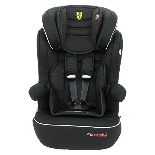 Mycarsit Siège Auto Isofix Ferrari, Groupe 1/2/3 (de 9 à36 kg), Noir
