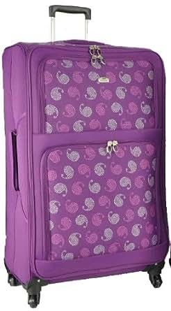 "Aerolite Super Lightweight World lightest Suitcase Trolley Cases Bag Luggage (21"" 26"" 29"") (32"", Plum Paisley)"