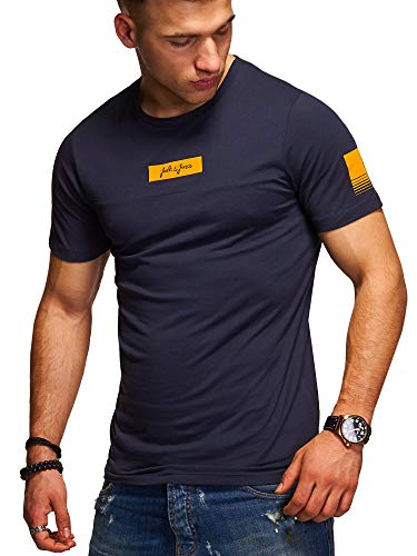 JACK & JONES Herren T-Shirt O-Neck Print Shirt (M, Total Eclipse)