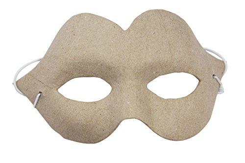 ske Karneval Charme aus Pappmaché, 5 x 16 x 9,5 cm, zum Verzieren, Kartonbraun (Pappmaché Halloween-masken)