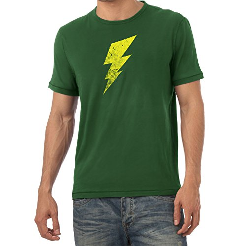 Flash - Herren T-Shirt, Größe L, Flaschengrün (Big Bang Theory Flash Kostüm)