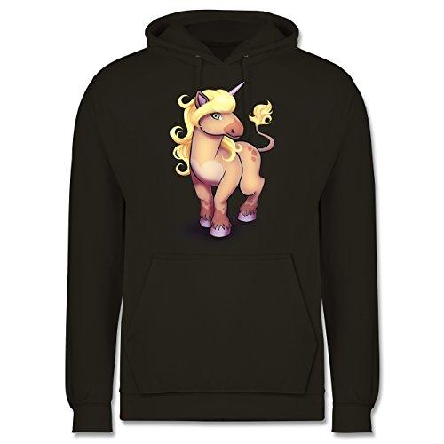 Sonstige Tiere - Einhorn Pony - Männer Premium Kapuzenpullover / Hoodie Olivgrün