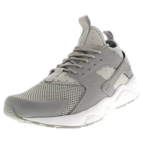Mens Breathable Lightweight Sports Fashion Comfortable Flat Gym Trainers - Grey/White - UK9/EU43 - BF0031