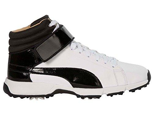 Puma Golf Titantour Ignite High Top SE Kinder Golfschuhe Jungen weiß schwarz Größe 38