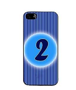 Fuson 2D Printed Numerology Designer back case cover for Apple iPhone 5S - D4219
