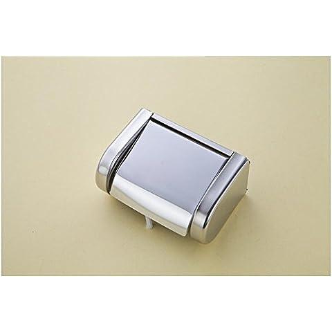 SSBY-Elegante bagno WC, vassoio di carta igienica in acciaio inox
