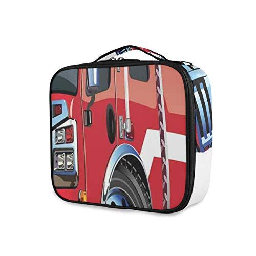 SUGARHE Grand Camion de Pompier avec la Bande dessinée Universelle de Moteur d'équipe de délivrance de sécurité d'équipement de Secours,Sac cosmétique Multifonctionnel La beauté