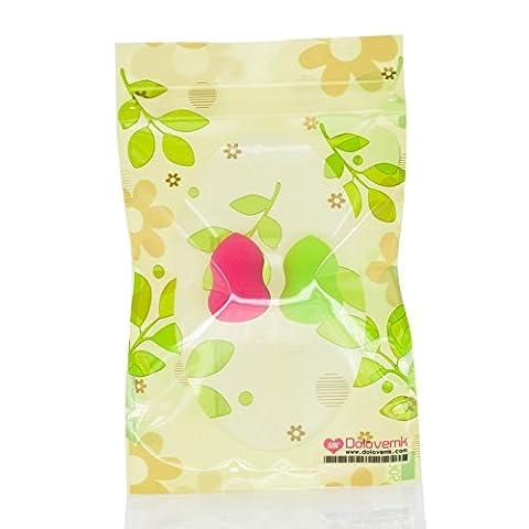 Dolovemk® 2pcs Beauté Maquillage mixeurs   Micro Mini Beauty éponges mixeurs Gourd-shaped 30mm   étendre au Plus Grand quand Mouiller (sans latex)