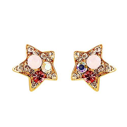 Gespout 1 Paar Mode Female Ohrringe Wunderschöne Ohrstecker Damen Earrings Pentagramm Form Damen Schönes Geschenk Schmuck Accessoires